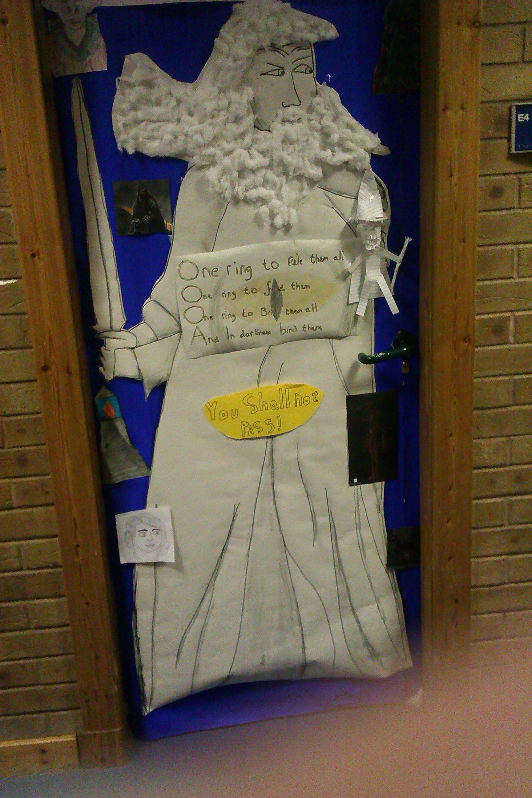 high school classroom door. English High School Classroom Door