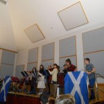 Easdale Primary School Orchestra playing at St. Andrews Ceilidh