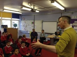 Strone Childrens author visit 2