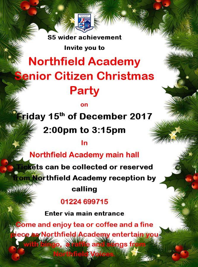 senior citizen christmas party poster 2017 edited northfield academy