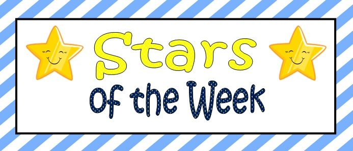 Congratulations to the PE and French Stars of the Week!