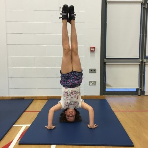 Catriona's headstand