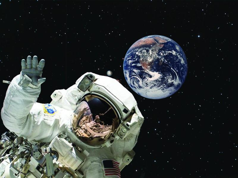 astronaut reaching space - photo #22