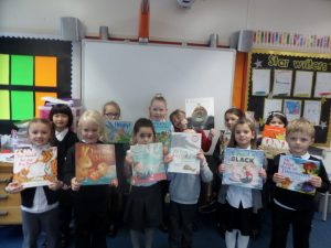 Some of the children chose books to bring back to school and read during our class story time.
