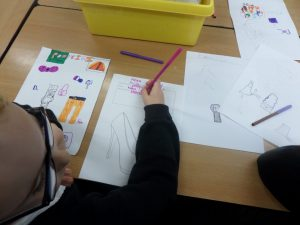 Freya, Cassidy and Kacey designed a new style of high heel.