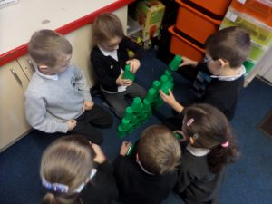 It was quite tricky because we each had to use all 50 cups!