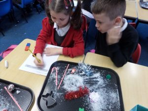 The children worked well together recording their findings as they went along.