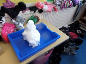 'I think this snowman will melt pretty quickly because the radiator is on.' - Mason