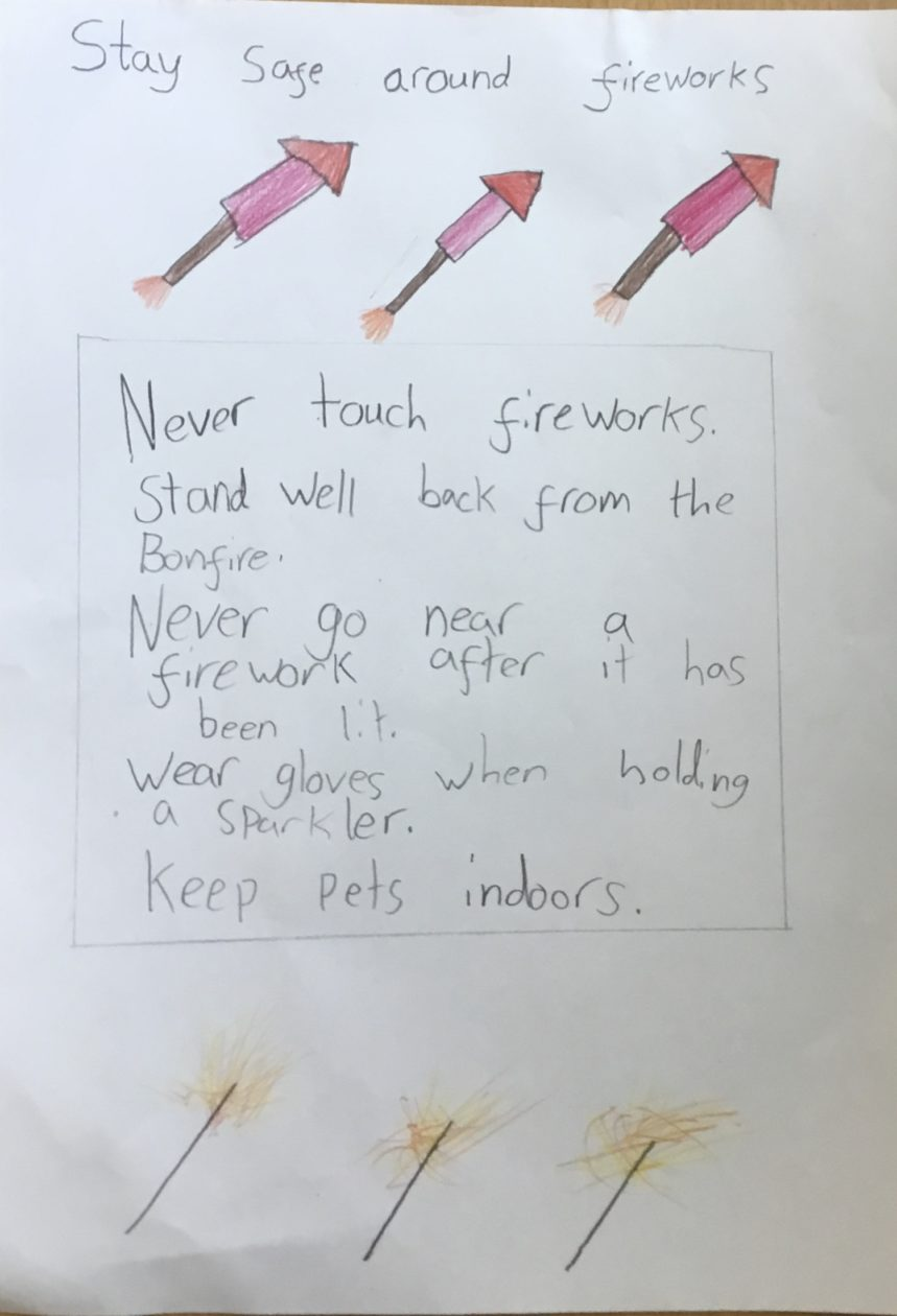 Our Firework Safety Posters