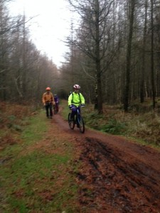 P7's adventure stretched from washing up to single track mountain bike skills.