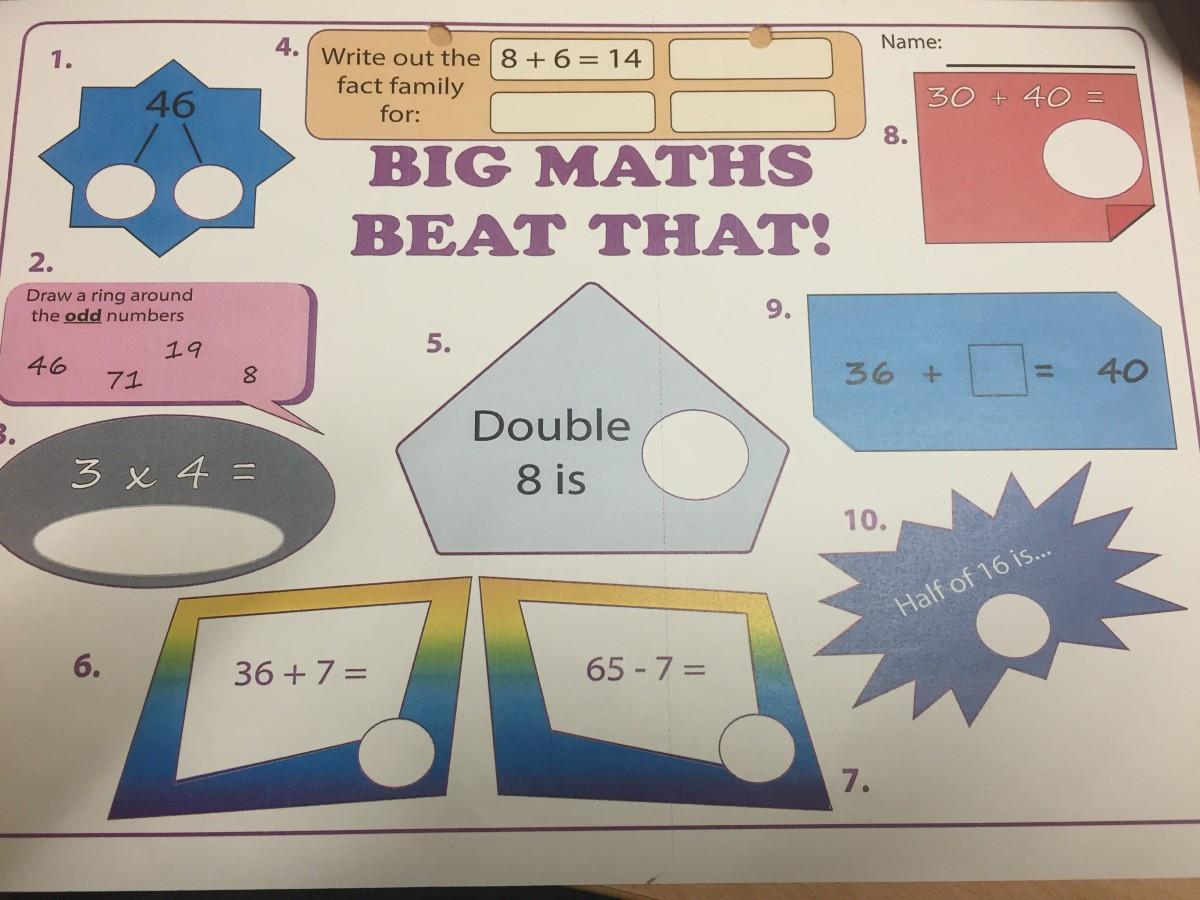 P4 Big Maths soft finish « St Andrew\'s Primary School Blog