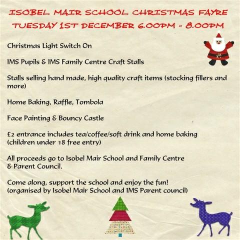 parent council christmas flyer