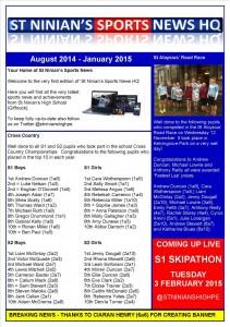 St Ninian's Sports News HQ - Edition 1