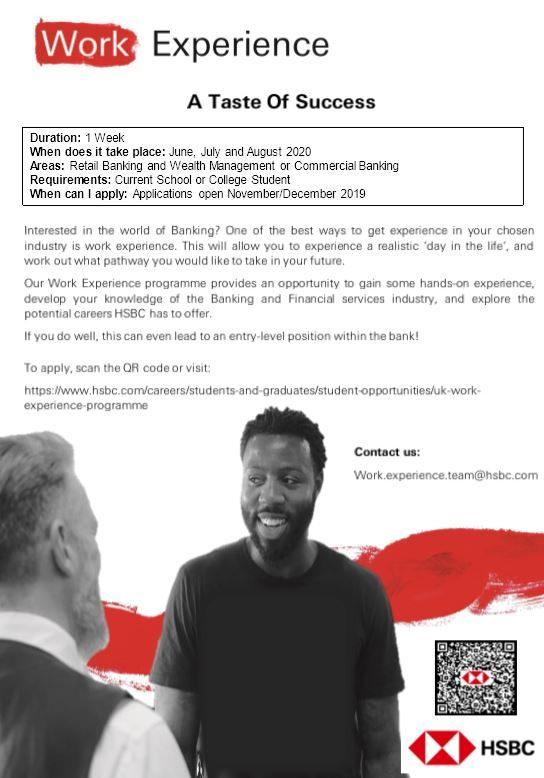 HSBC UK Work Experience