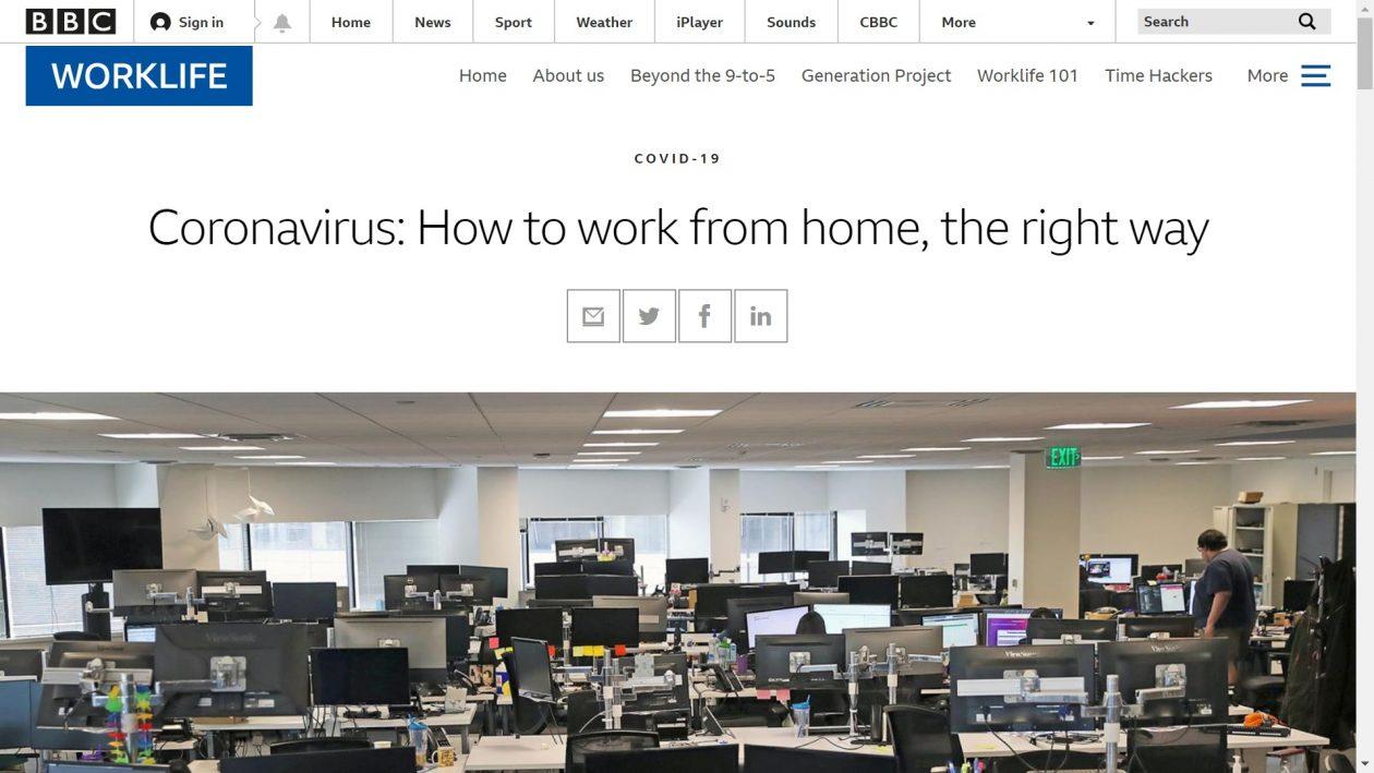 BBC: Coronavirus: How to work from home