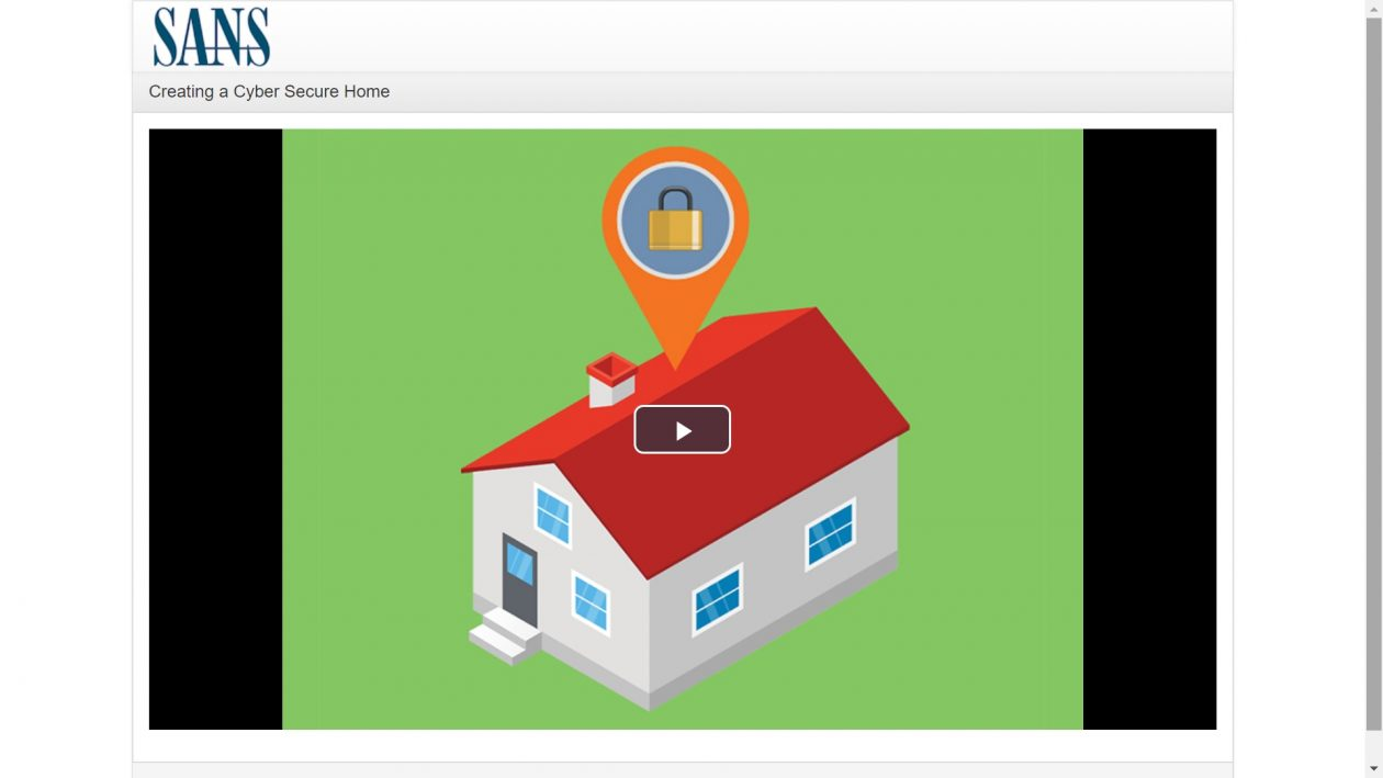 Creating a Cyber Secure Home Video