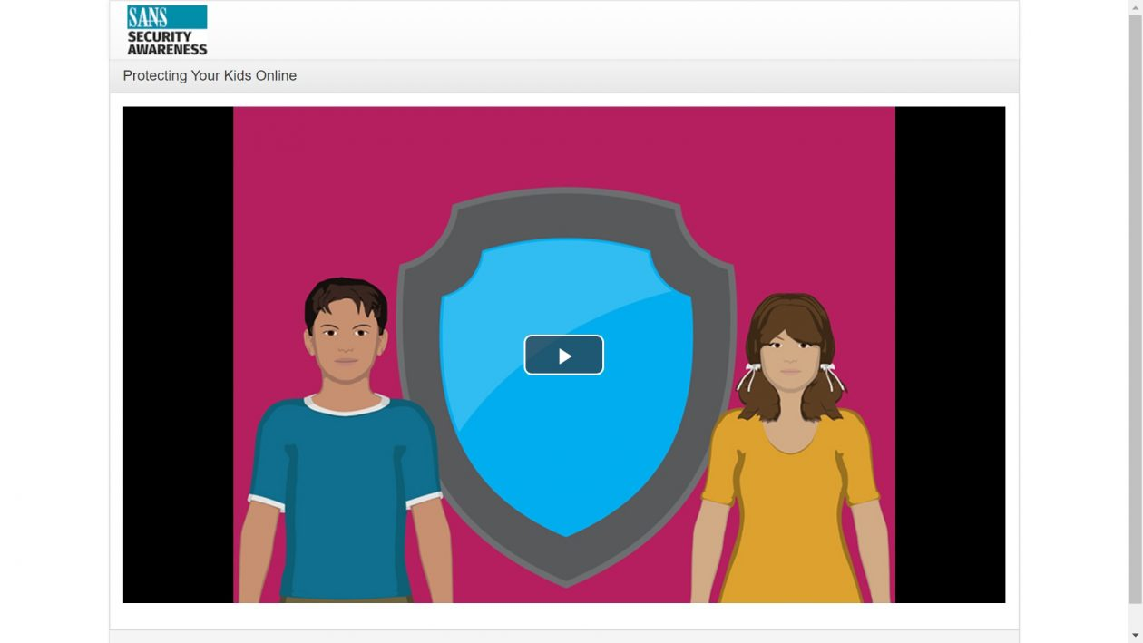 Protecting Your Kids Online Video