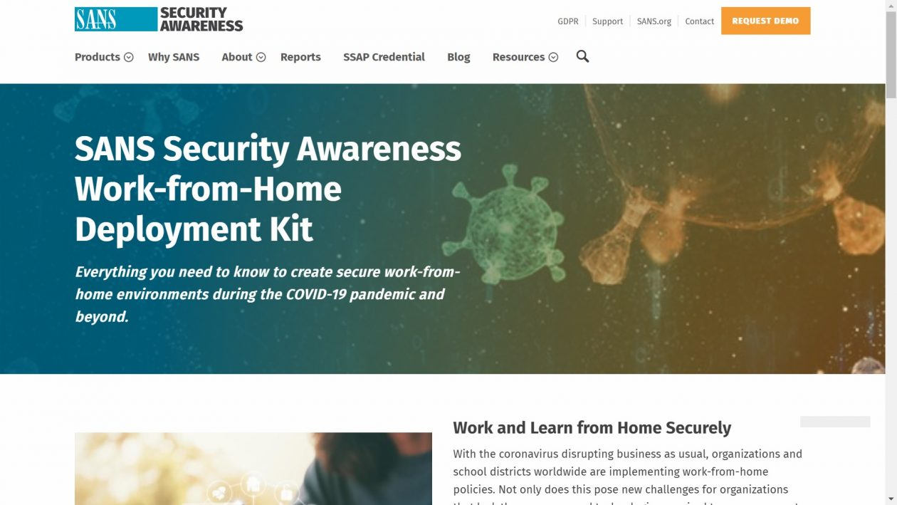 SANS Security Awareness: Work-from-Home Deployment Kit