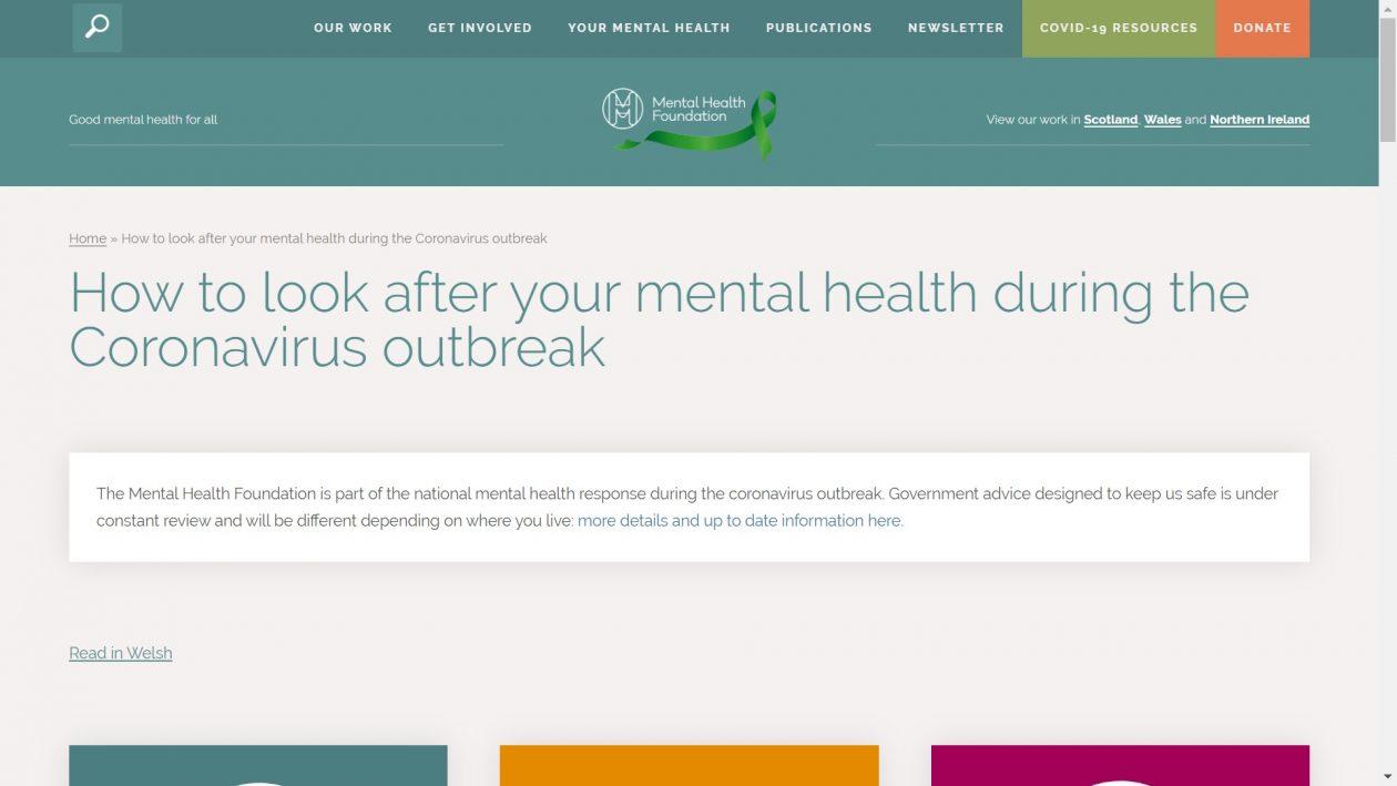 Mental health during the Coronavirus outbreak