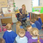 Visiting P1 Class for a Story