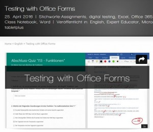 TestingWithOfficeForms