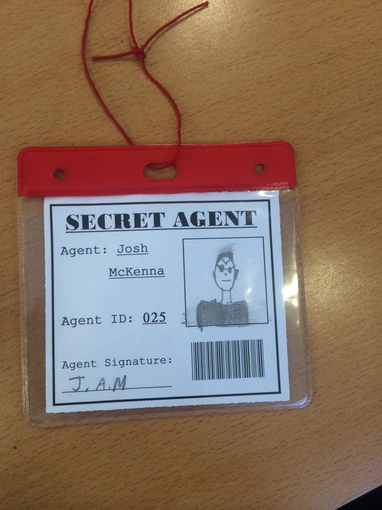 secret agent badge