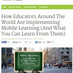 How are others in different parts of the world putting mobile learning into practice