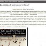 Digital Ice-breaker Learner Activities