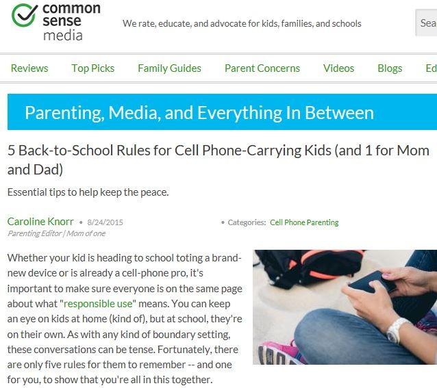 CommonSenseBacktoschoolmobileadvice