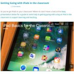 Introduction to using iPad in classroom