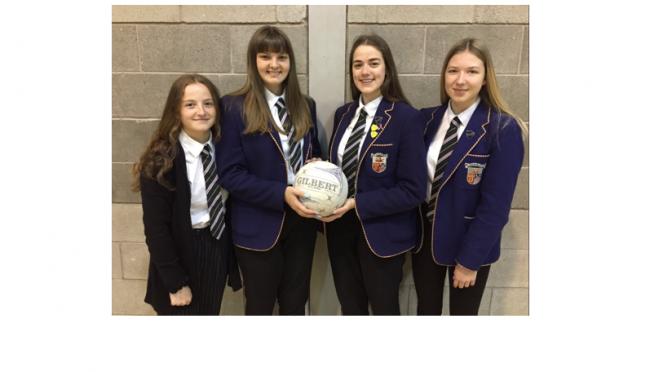 Fife Schools Senior Girls Netball squad