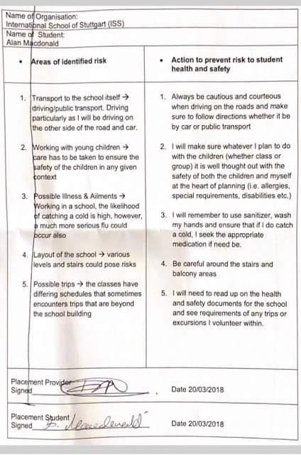 Example risk assessment school.