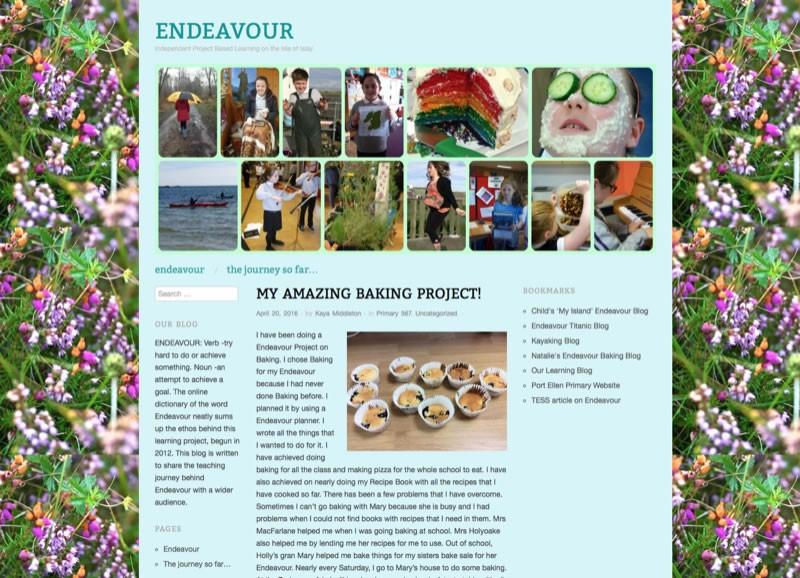 Screenshot of Endeavour Blog
