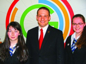 Lourdes Secondary Pupils with David Grevemberg