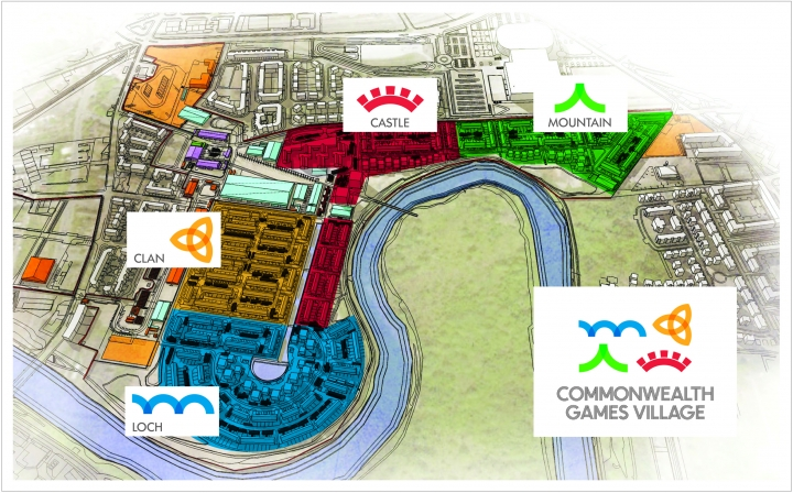 Commonwealth Games Village Zones