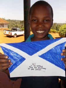 Child with Scotland flag