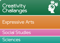 Creativity challenges - Main curriculum area expressive arts, other curriculum areas social studies and sciences