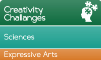 Learn through creativity challenges, sciences and expressive arts