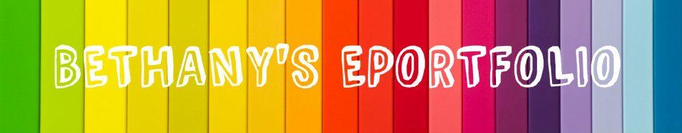 Bethany Sharratt's ePortfolio