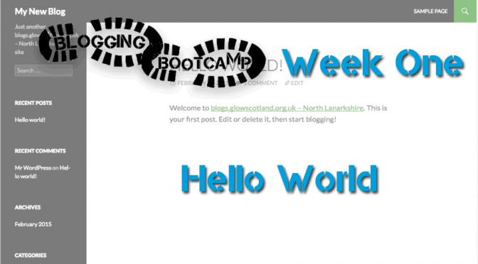 Bootcamp Week 1