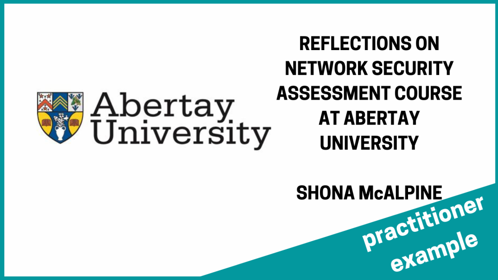 abertay cyber security course