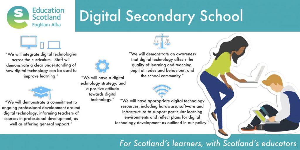 digital secondary school vision diagram