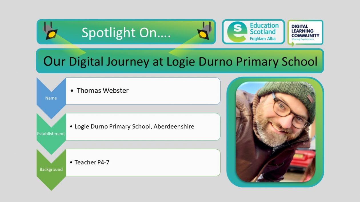 our digital journey at logie durno blog post header