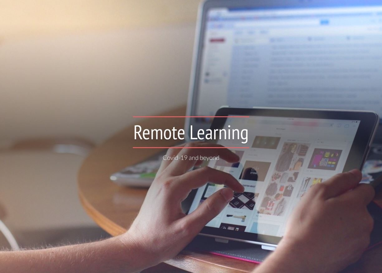 remote learning titlle graphic