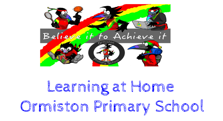 learnign at home - ormiston primary school. blog post header