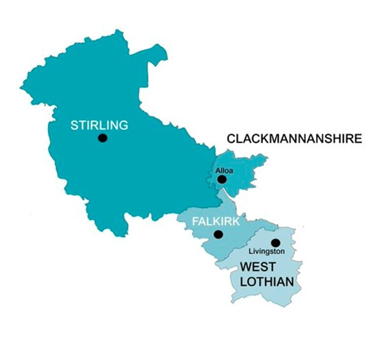 forth valley and west lothian region