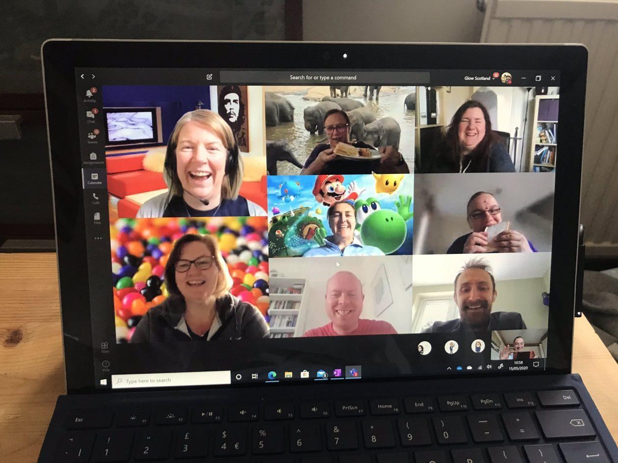 screenshpt of teams meeting on laptop