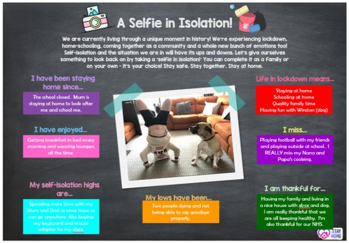 a selfie in isolation blog post header