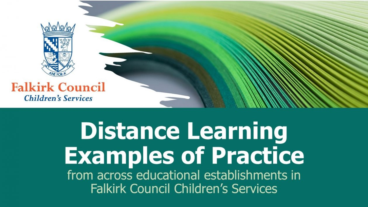 distance learning - examples of practice, falkirk. Blog post header