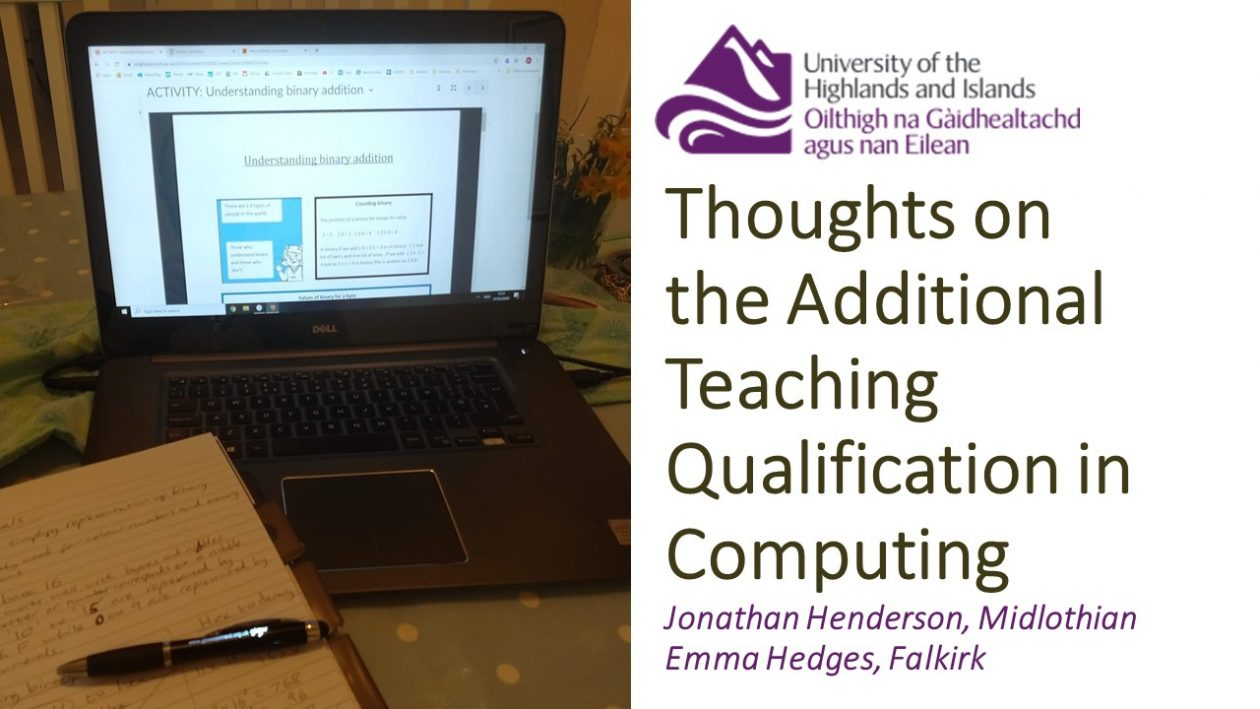 thoughts on additioanl teaching qualification in Computing blog post header